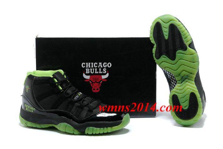 Nike Air Jordan 11 XI Chicago Bulls Mens Shoes Black Green On Sale   Air  Jordans Mens->   Pinterest   Air jordan, Nike air jordan 11 and Nike air  jordans