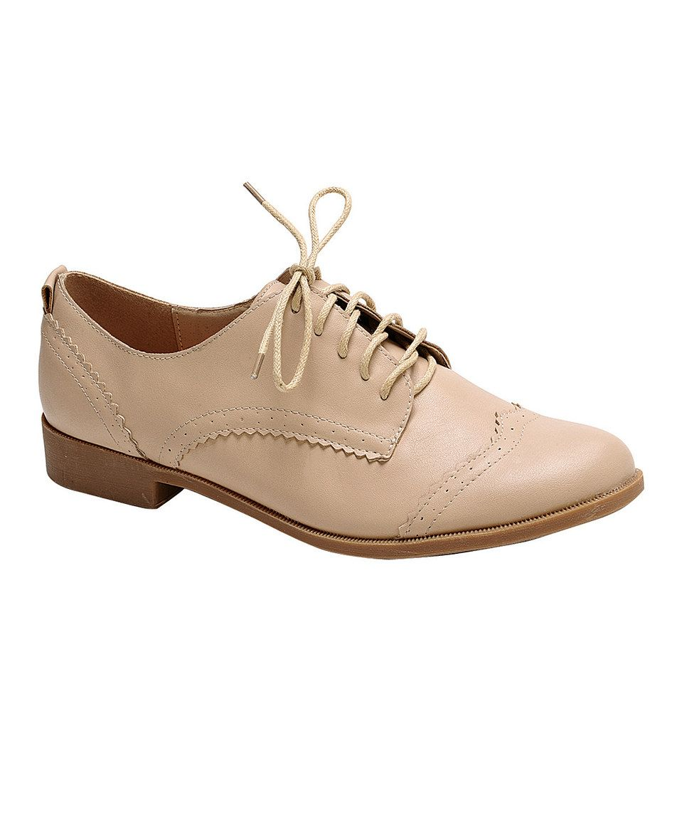 Another great find on #zulily! Nature Breeze Beige Campus Oxford by Nature Breeze #zulilyfinds