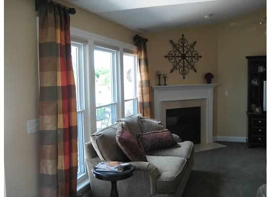 Curtains For 3 Windows Close Together? Small Rods , Close To Ceilings.