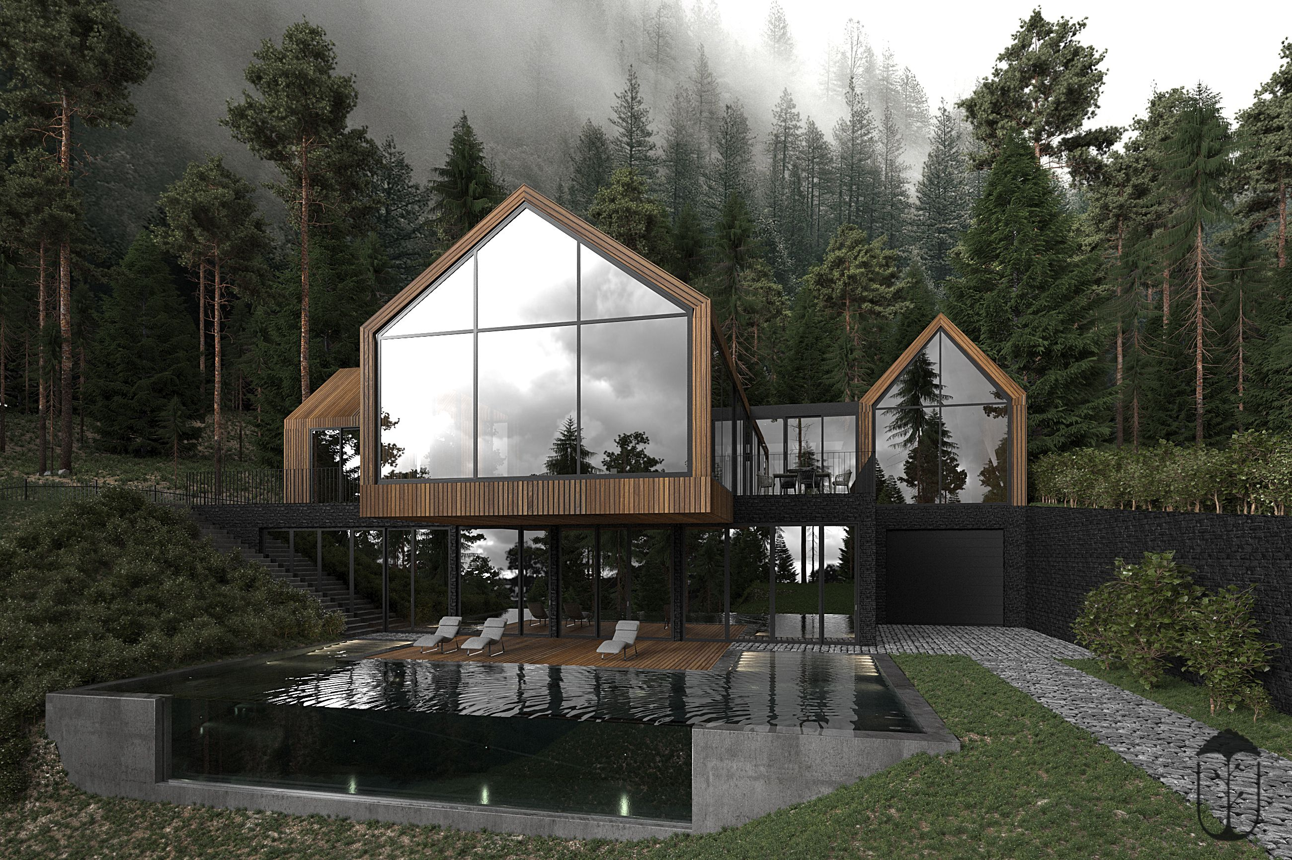 Forest House U Style Archello Forest House Architecture