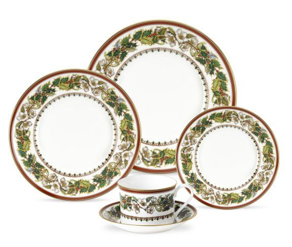 Spode Christmas Rose 5 Piece Place Setting $163.8, You Save $109.20
