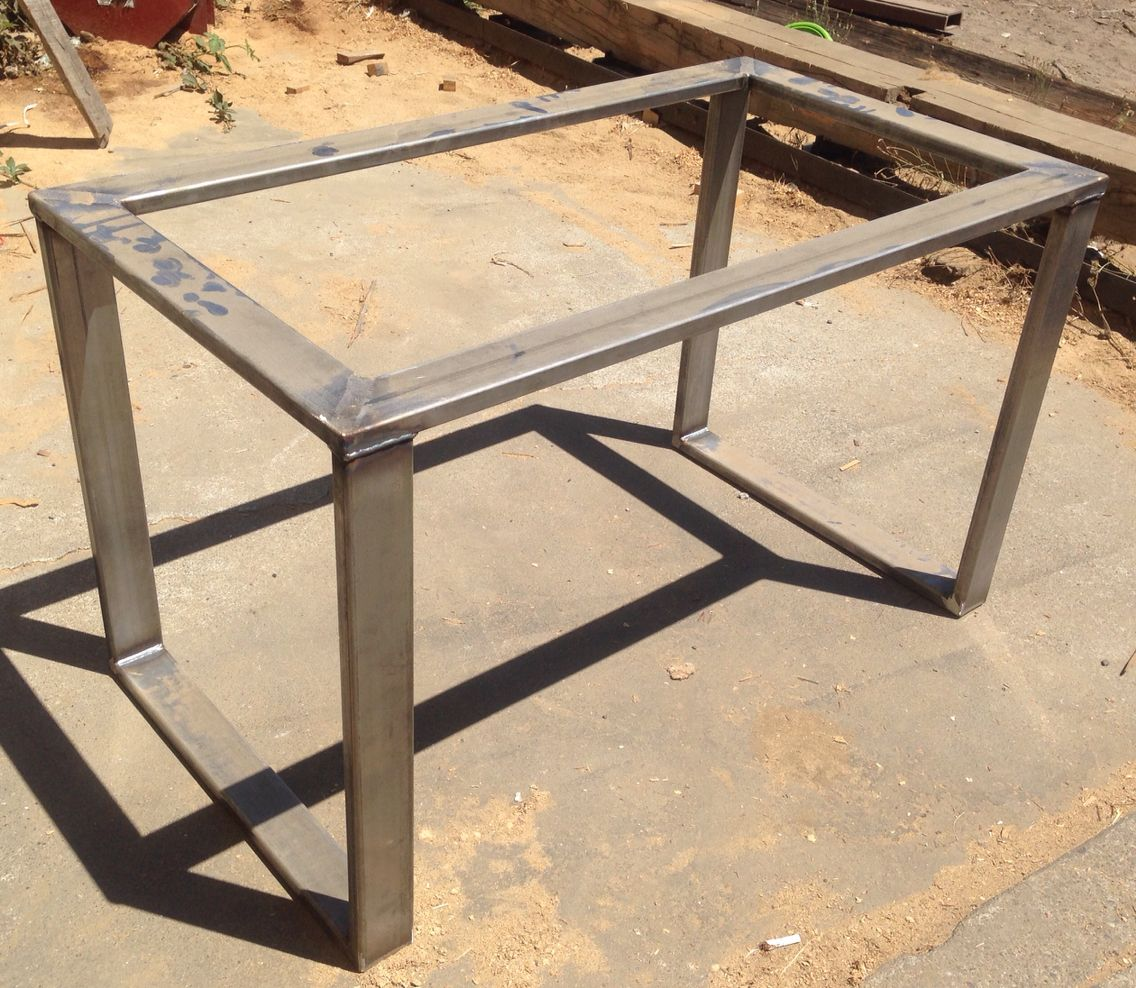 Metal Table Base Hot Rolled Steel 3x1 Tubing Metal Tables Bases Pinterest Steel Metal