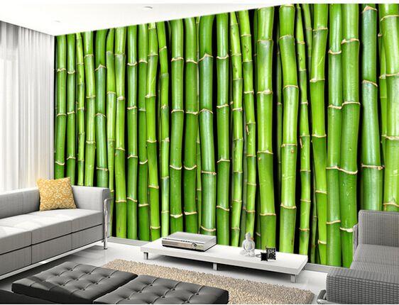 Best Custom Photo Wallpaper Bamboo 3D Stereoscopic Wallpaper 400 x 300