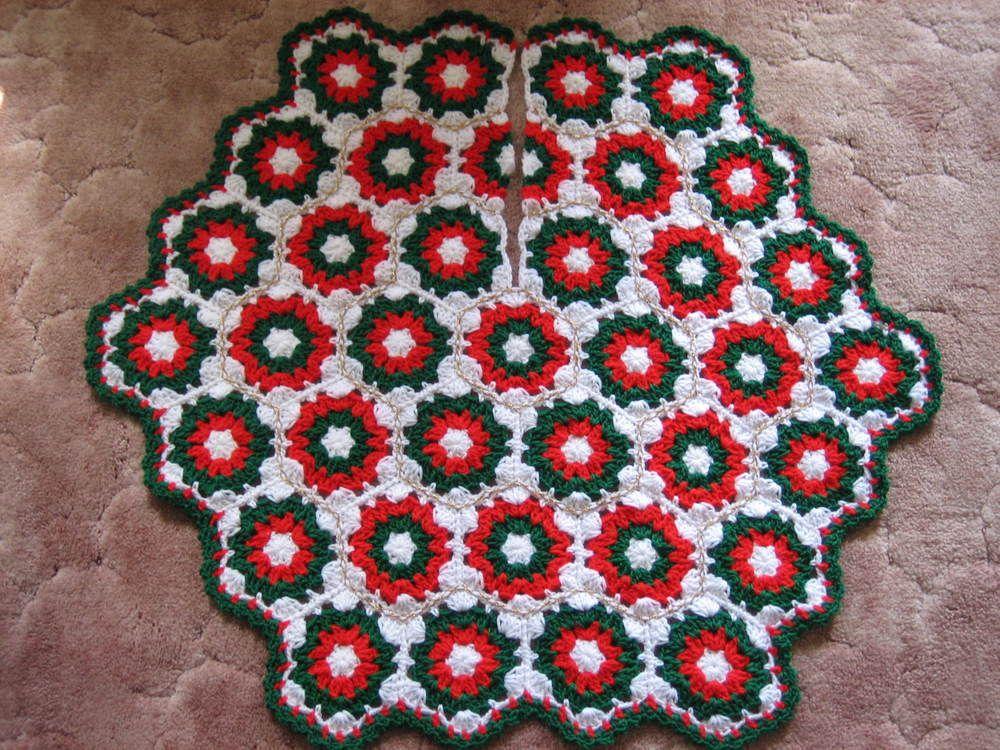 Crochet Christmas Tree Skirt Crochet Christmas Trees Crochet