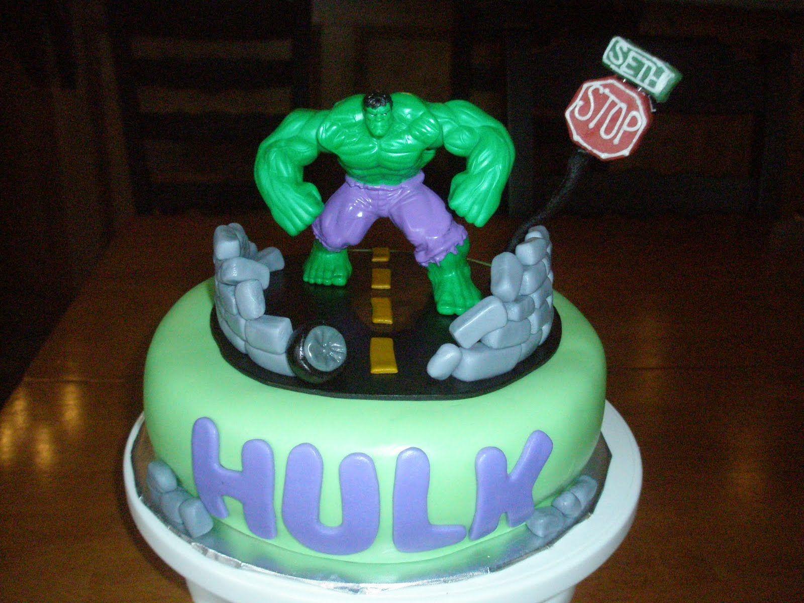 Hulk Themed Cake Hulk Cakes Decoration Ideas marvel
