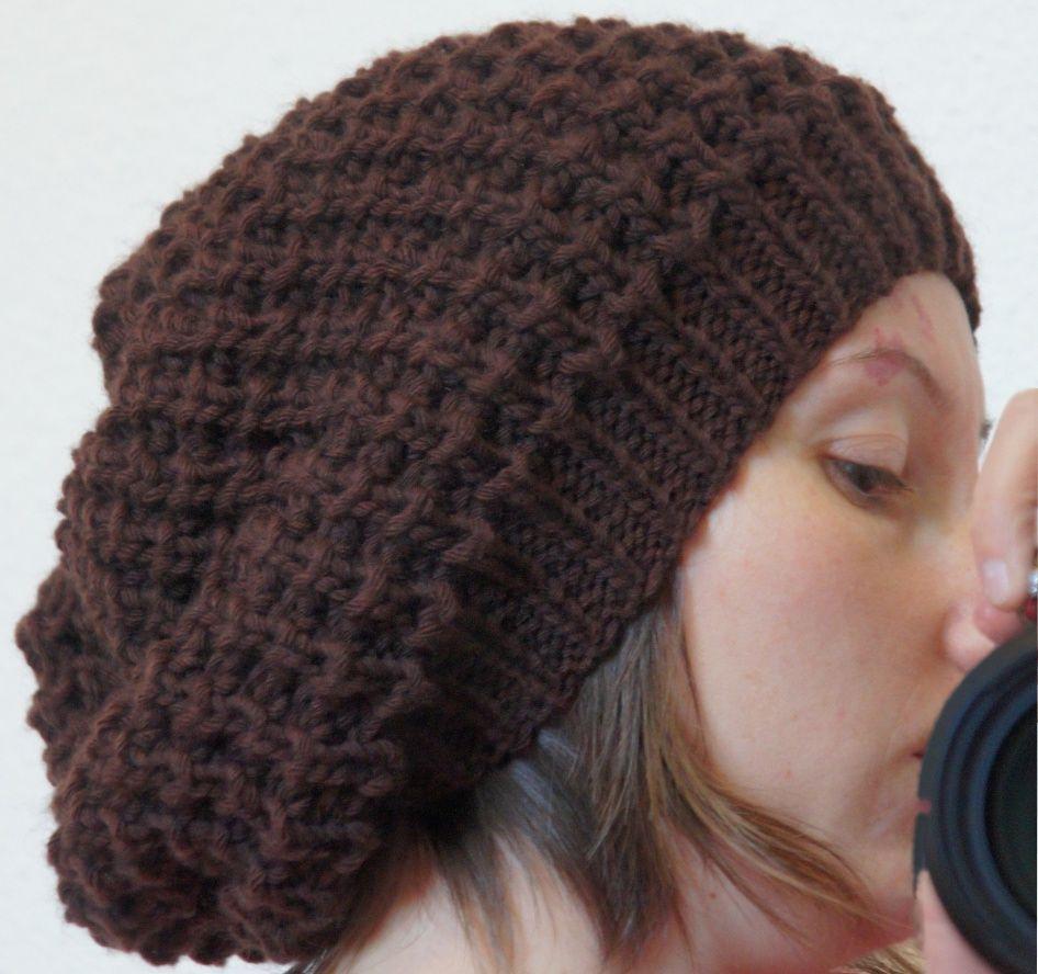 bonnet large femme tricot