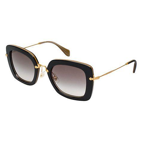 5687817a6ff7 Buy Miu Miu MU07OS KAY0A7 Square Acetate Frame Sunglasses