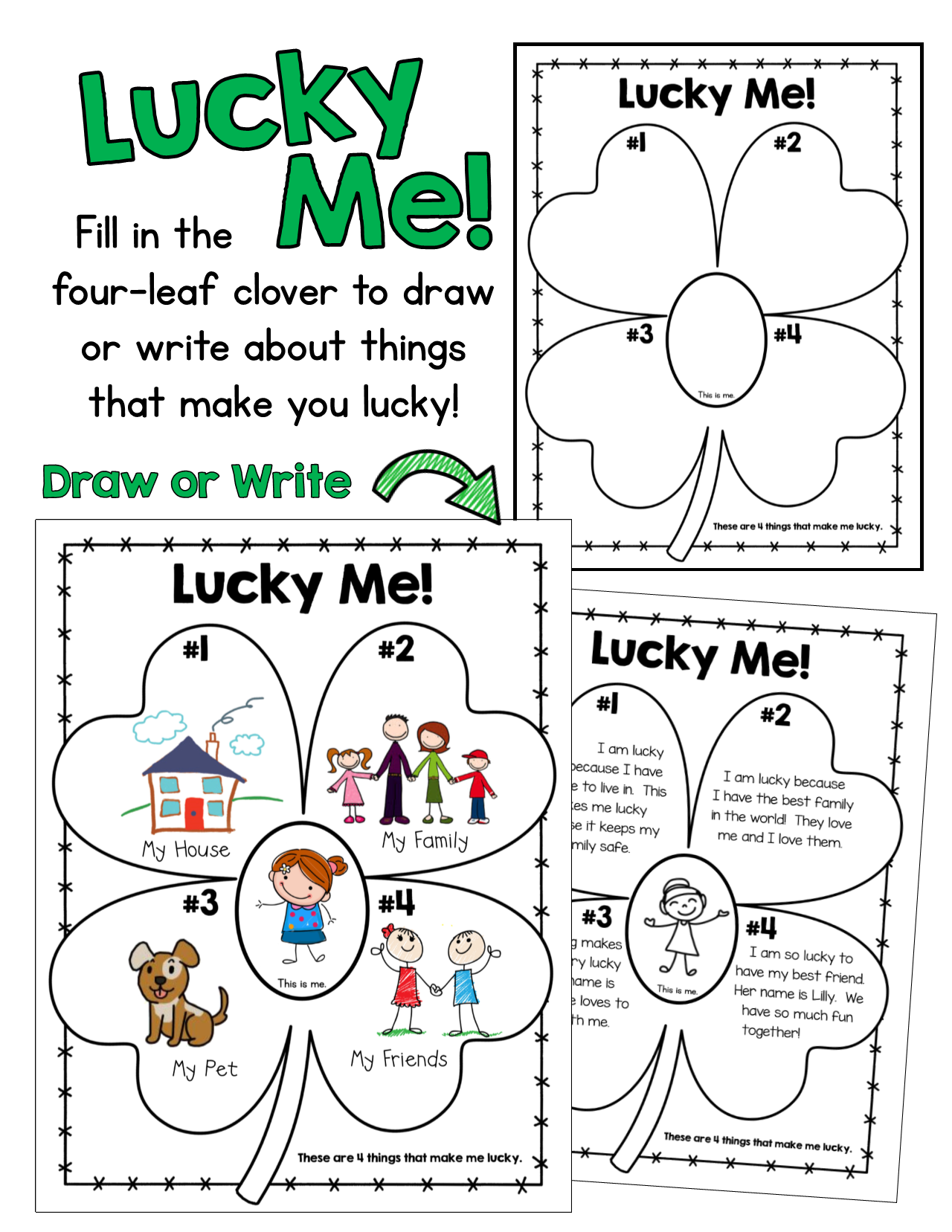 Lucky Me Freebie A Free St Patrick S Day Activity For