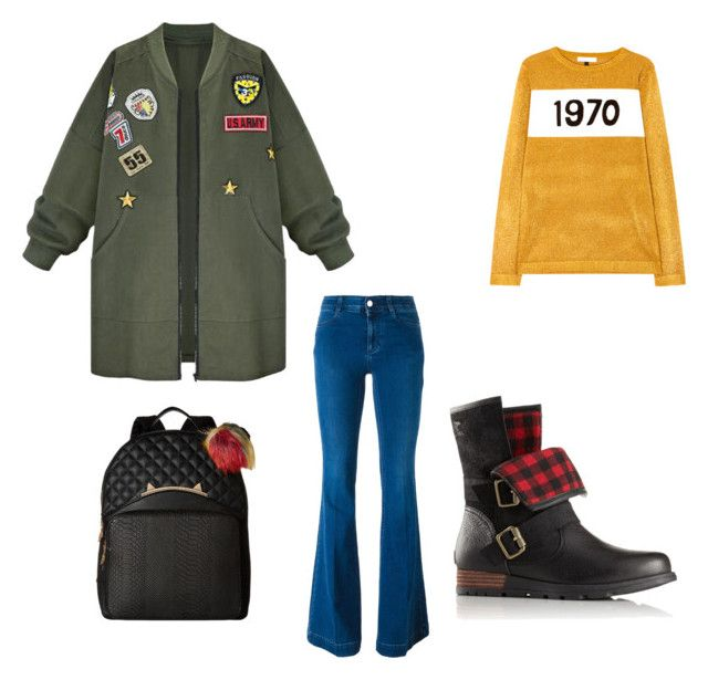 """""""Untitled #218"""" by courtneycarey on Polyvore featuring WithChic, Bella Freud, STELLA McCARTNEY, SOREL and Betsey Johnson"""