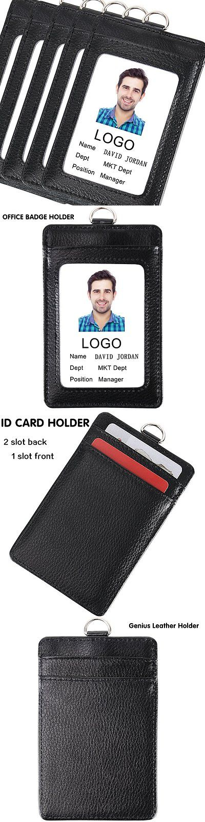 ID and Badge Holders 163582 Acctrend Genius Leather Id Or Office