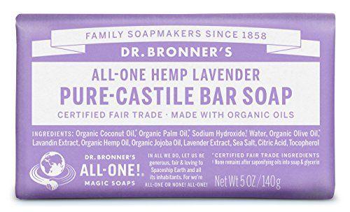 Dr. Bronner's Magic Soaps Pure-Castile Soap, All-One Hemp Lavender, 5-Ounce Bars (Pack of 6) Dr. Bronner's http://www.amazon.com/dp/B001ET77OI/ref=cm_sw_r_pi_dp_7x3Uwb1D4CMTH