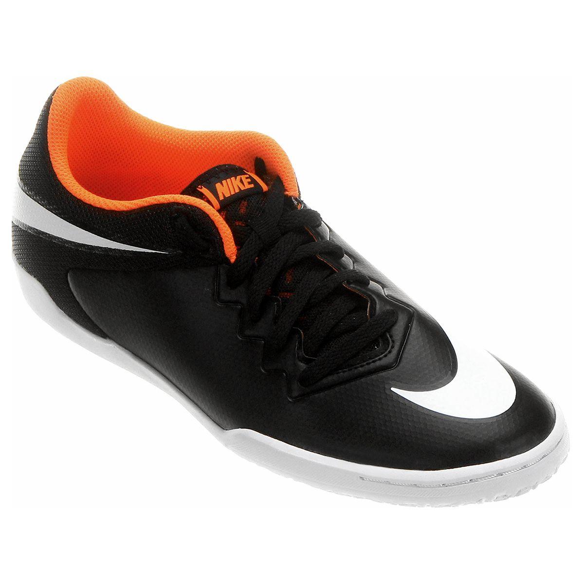 Chuteira Nike Hypervenom Pro Street IC Futsal Preto e Branco | Netshoes