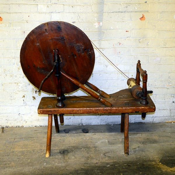 Vintage Charkha Spinning Wheel | Textile Tools & Techniques