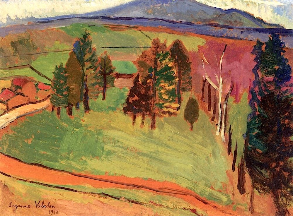 A Road in the Countryside Suzanne Valadon - 1918