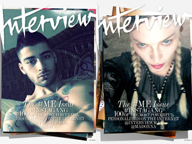 Zayn's Shirtless Selfie, Madonna's Hot Topic Cover Featured on Interview #ME Issue