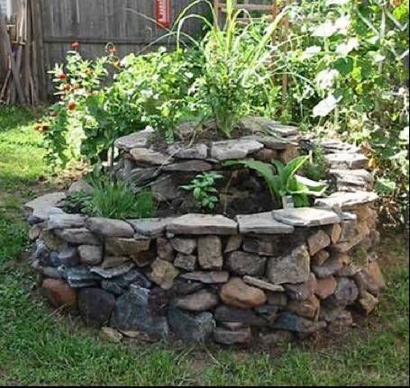 How To Build A Spiral Herb Garden Tutorial Dry Stacked Stone