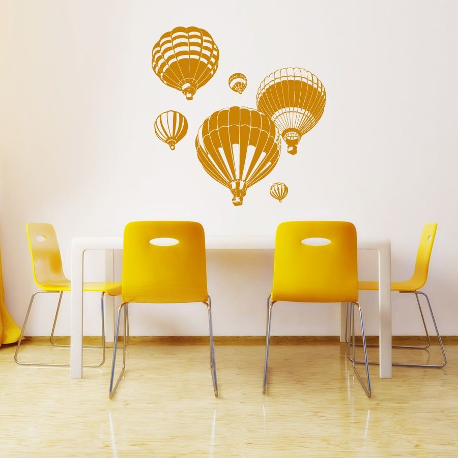 Hot Air Ballons Wall Art Stickers Wall Decal | Crafty | Pinterest ...