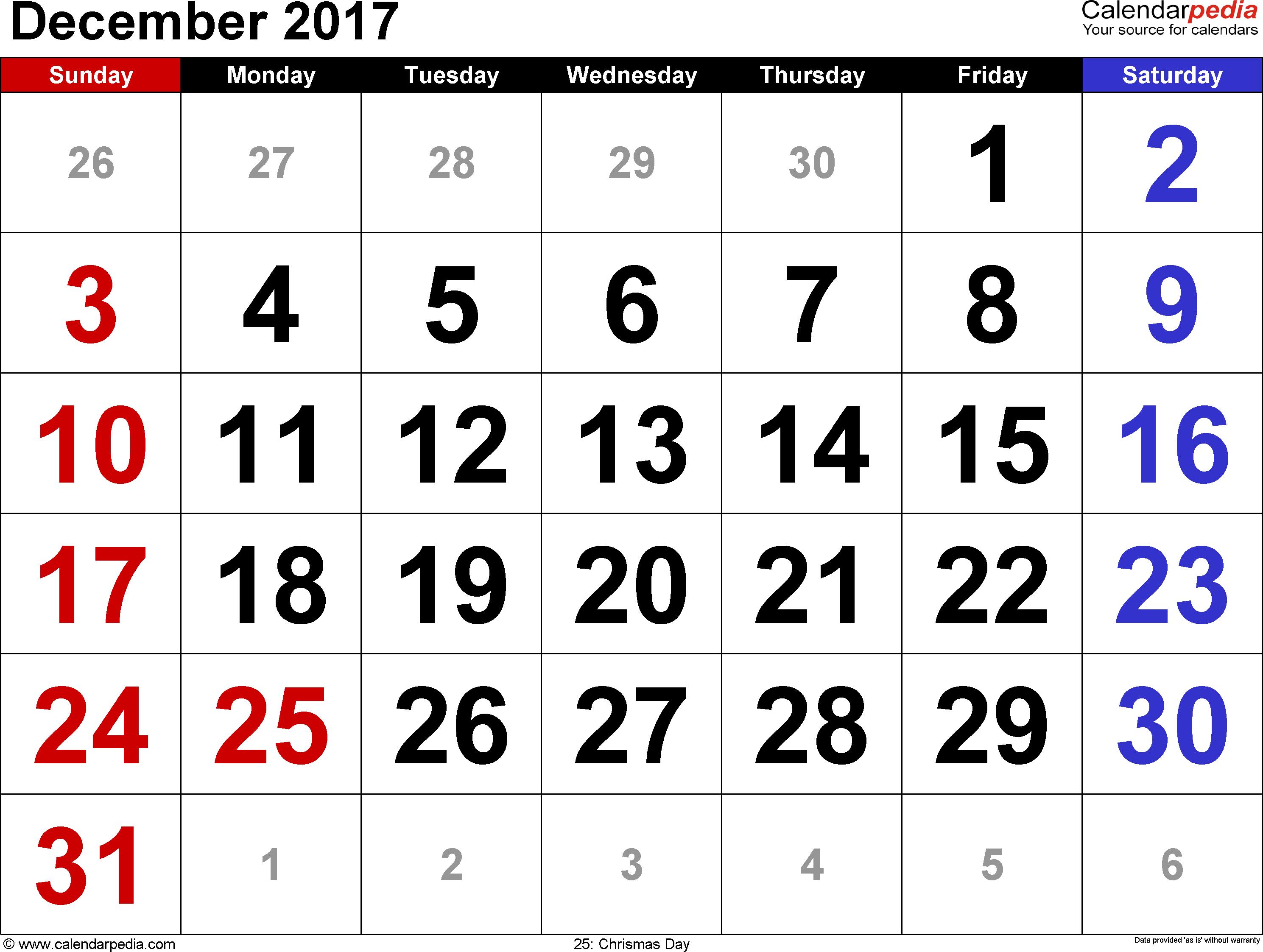 2017 and 2017 calendar
