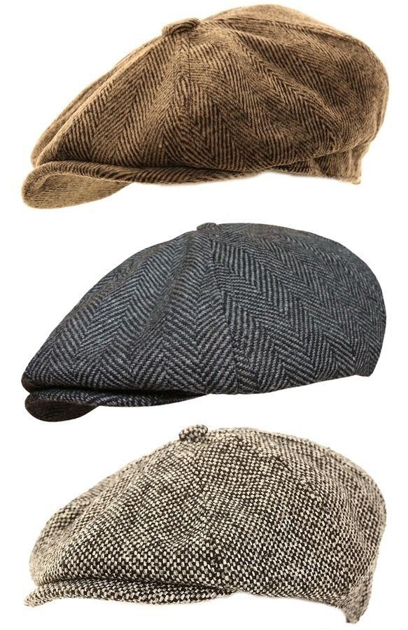 Mens Herringbone Baker Boy Caps Newsboy Hat Country Style Gatsby   Flat Cap  in Clothes b91fcf335ab7
