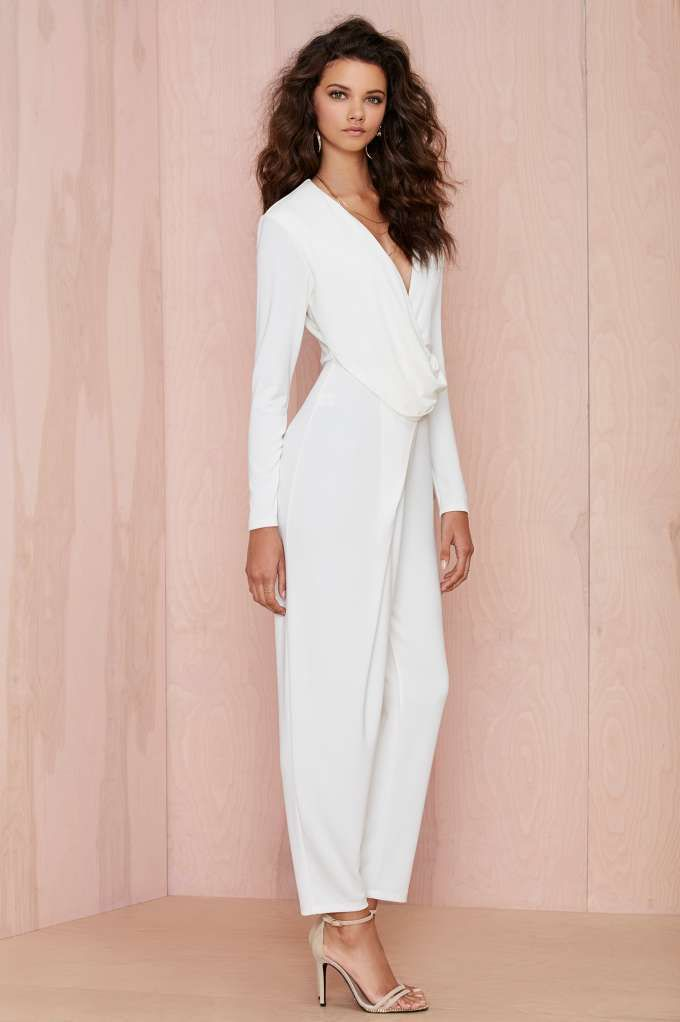 acee01e5459 Nasty Gal Swipe Right Drape Jumpsuit - Rompers + Jumpsuits