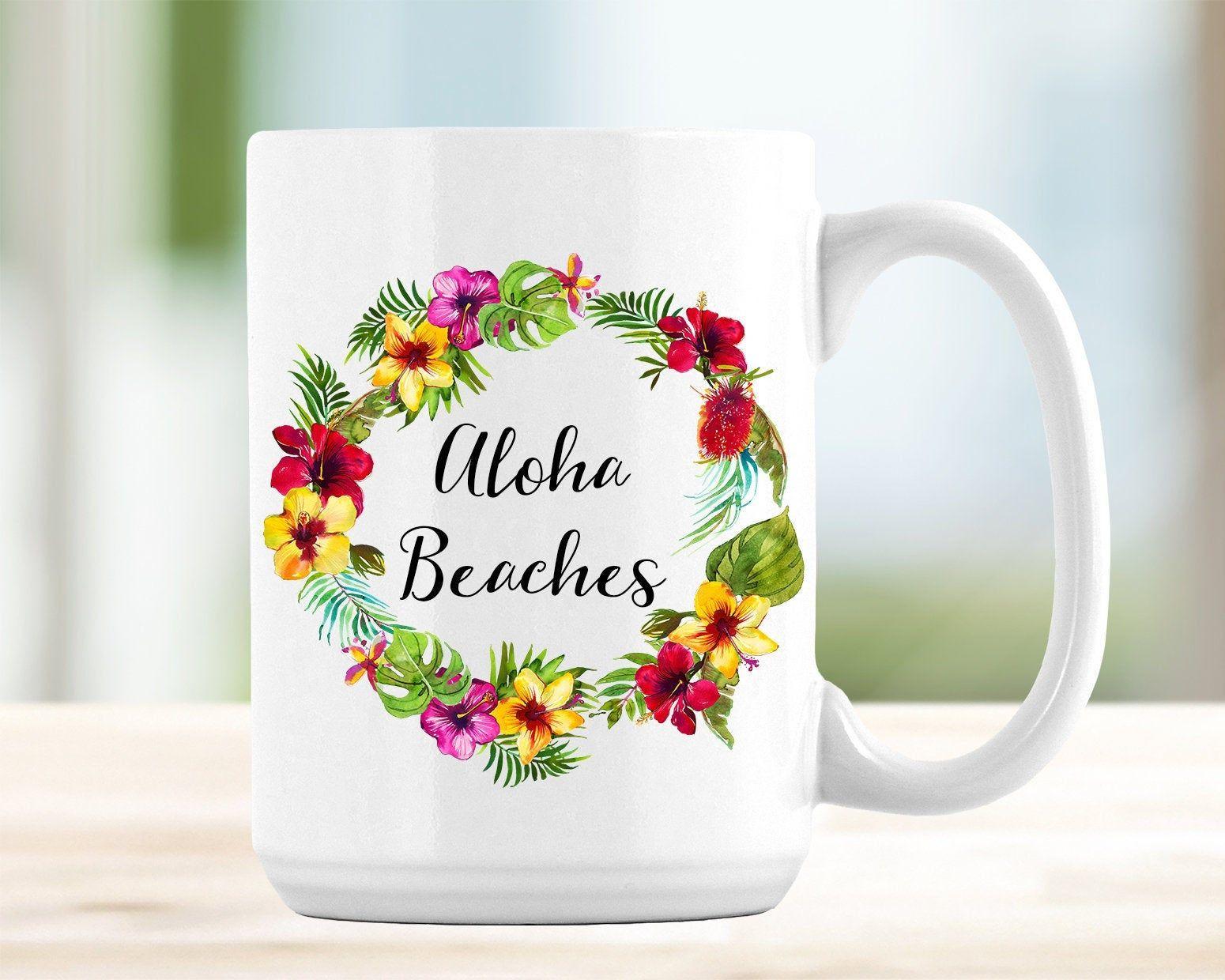 Aloha beaches bachelorette coffee mug bachelorette party