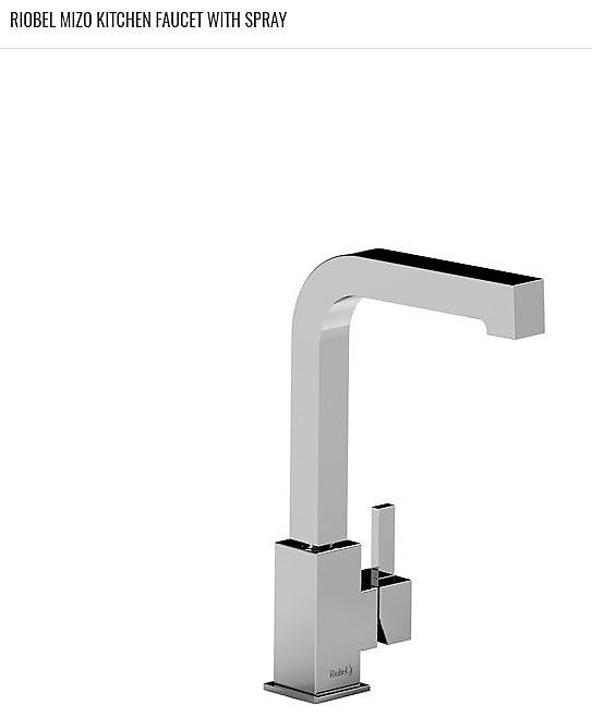 RIOBEL\'s MIZO Kitchen Faucet (MZ101) with spray. 3/8\
