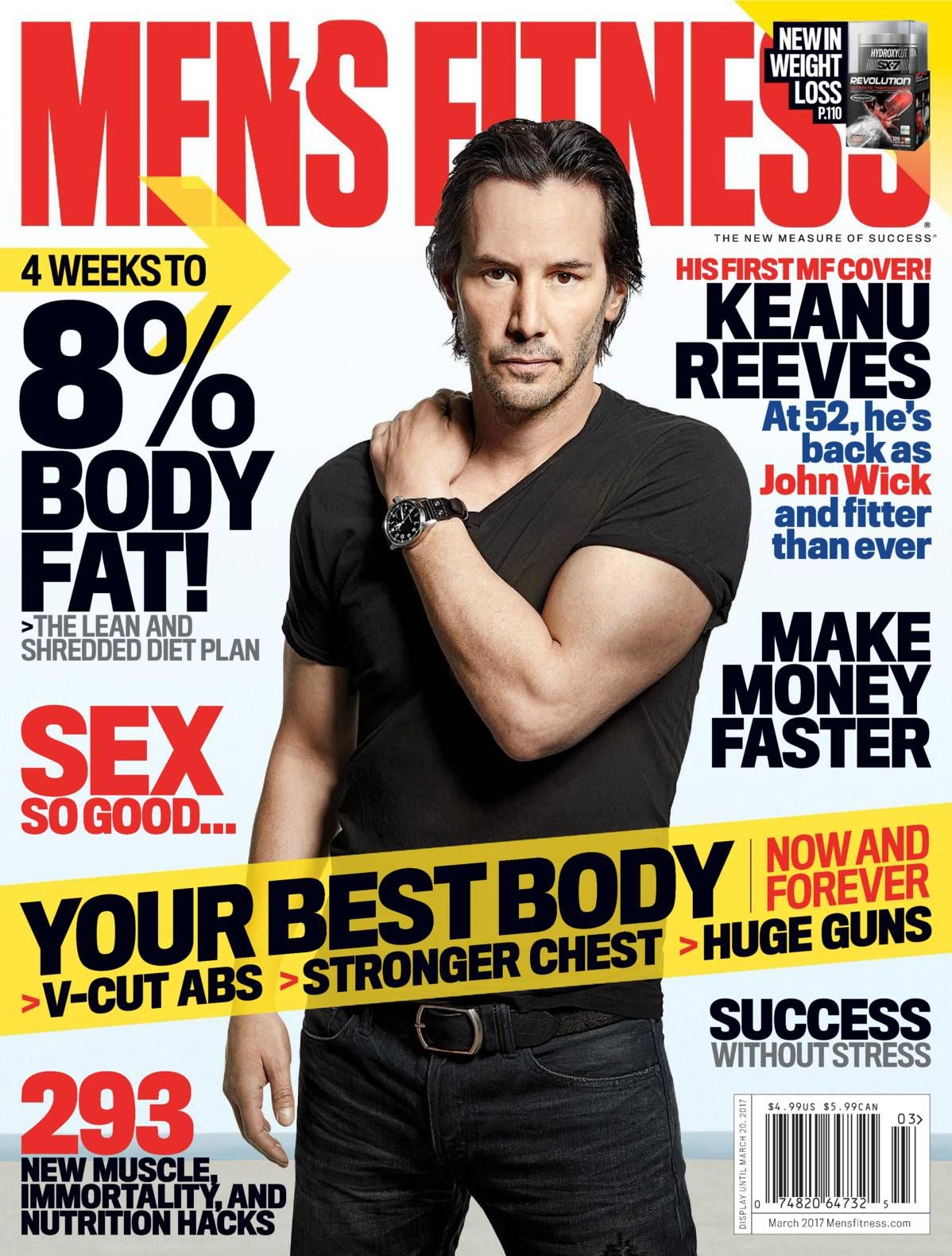 91850bed2bc Free Download Men s Fitness (US)  Magazine - March 2017. YOUR BEST BODY -    V- CUT ABS STRONGER CHEST   HUGE GUNS - NOW AND FOREVER. HIS FIRST MF COVER!
