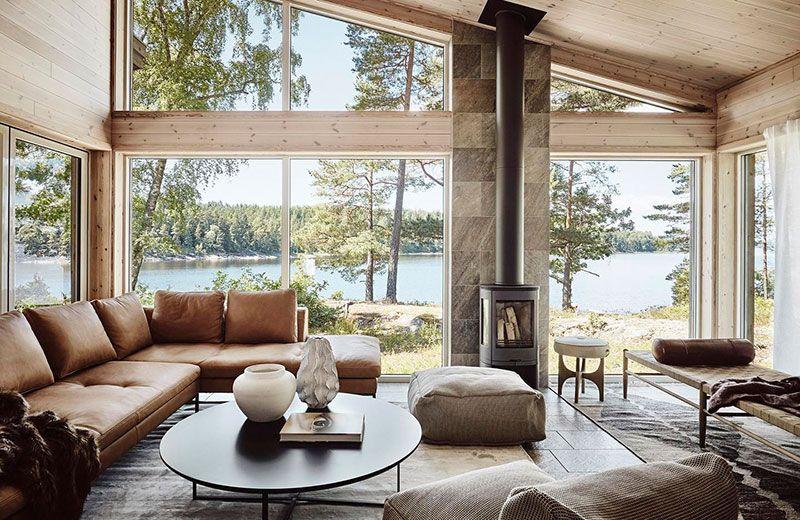 Dom V Shvecii Uyutnaya Atmosfera S Vidom Na Ozero Foto Idei Dizajn Scandinavian Home Home Swedish House