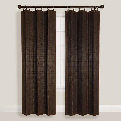 Espresso Bamboo Ring Top Curtain With Images Curtains Bamboo