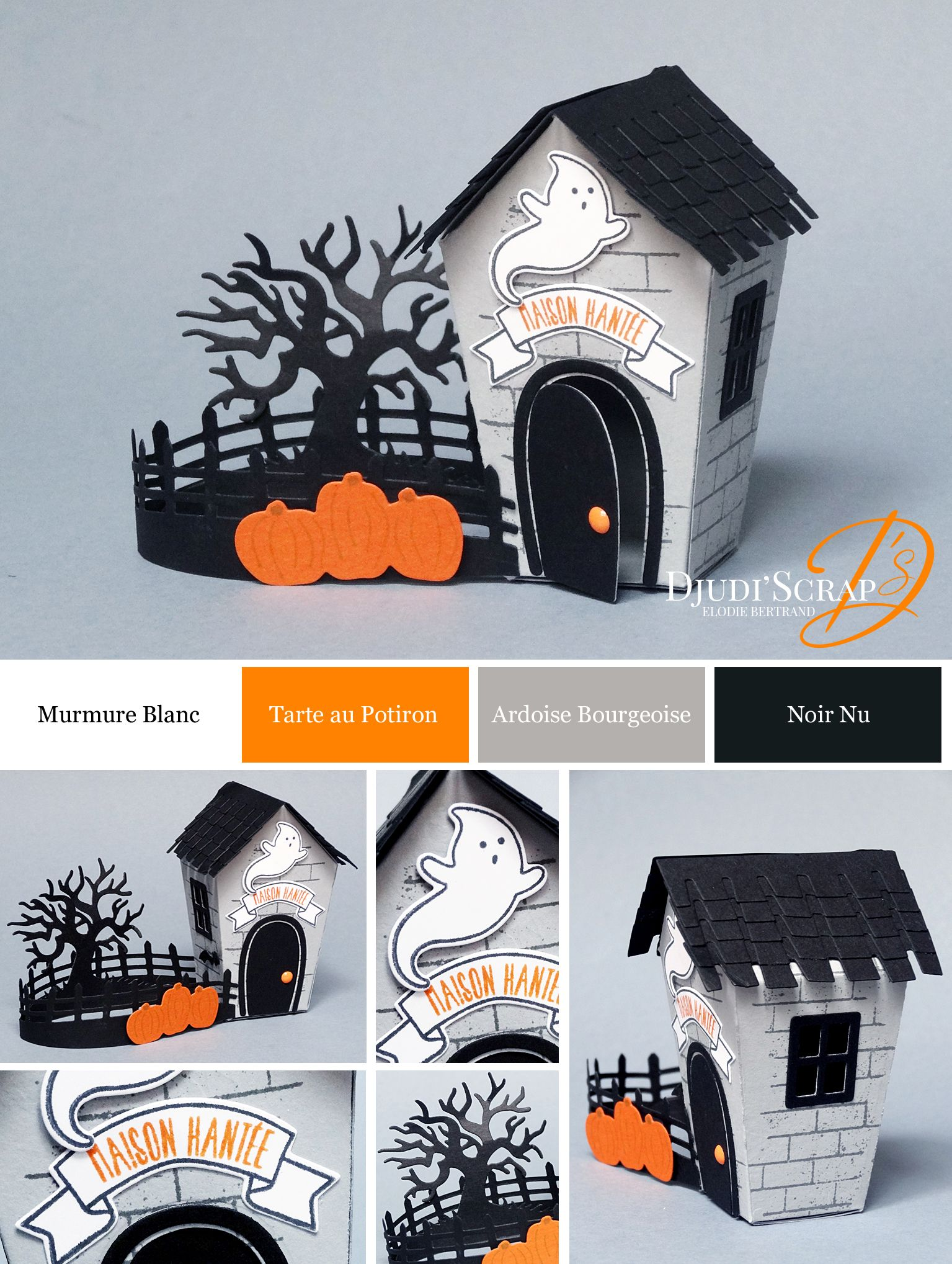 djudi 39 scrap stampin 39 up d coration petite maison hant e halloween thinlits doux foyer home. Black Bedroom Furniture Sets. Home Design Ideas