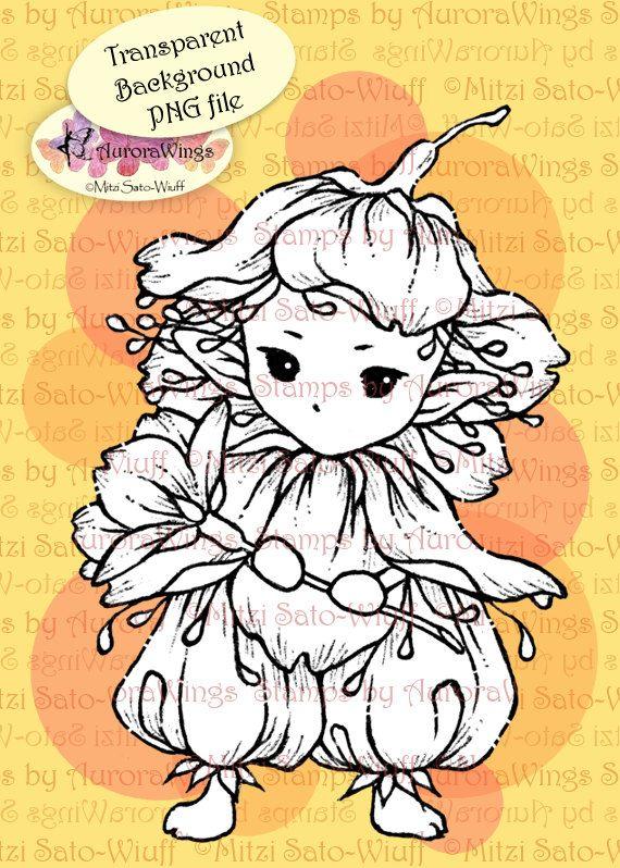 Digi Stamp Instant Download Cherry Blossom
