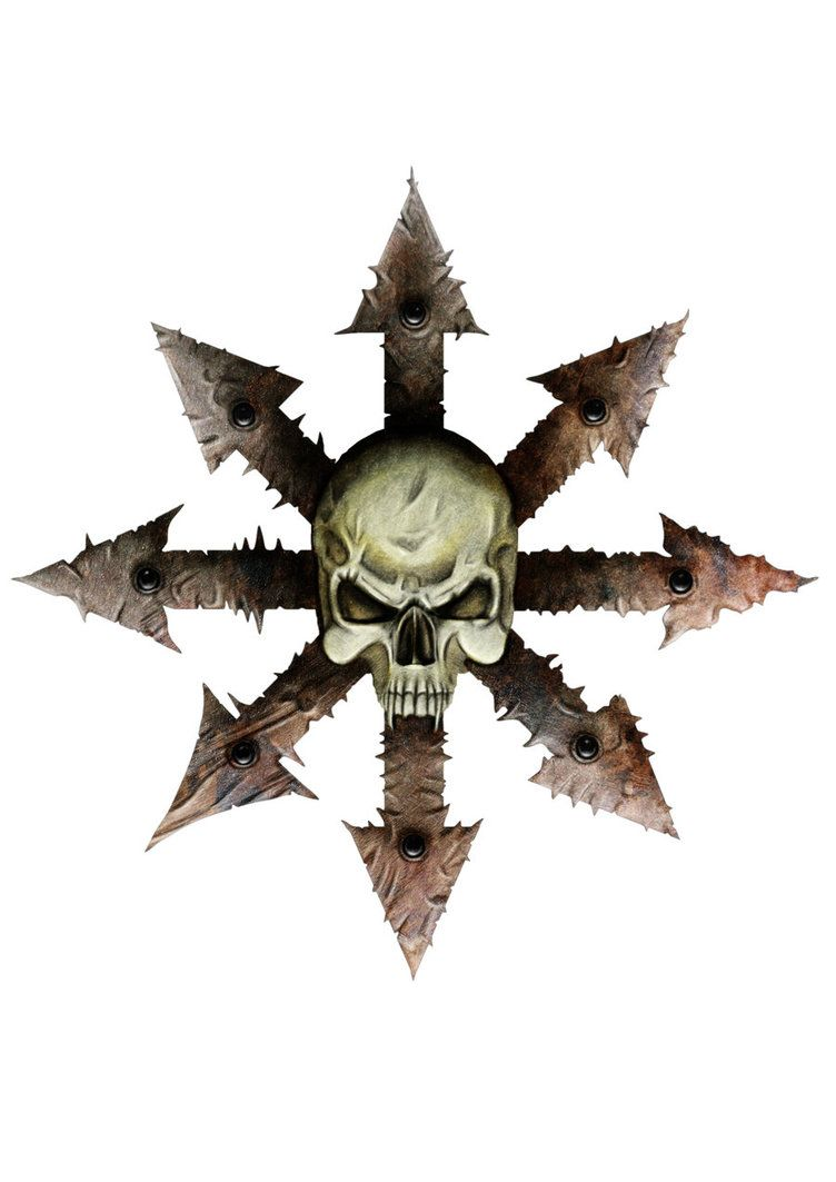 chaos logo simonbreeze warhammer artpicswallpapers