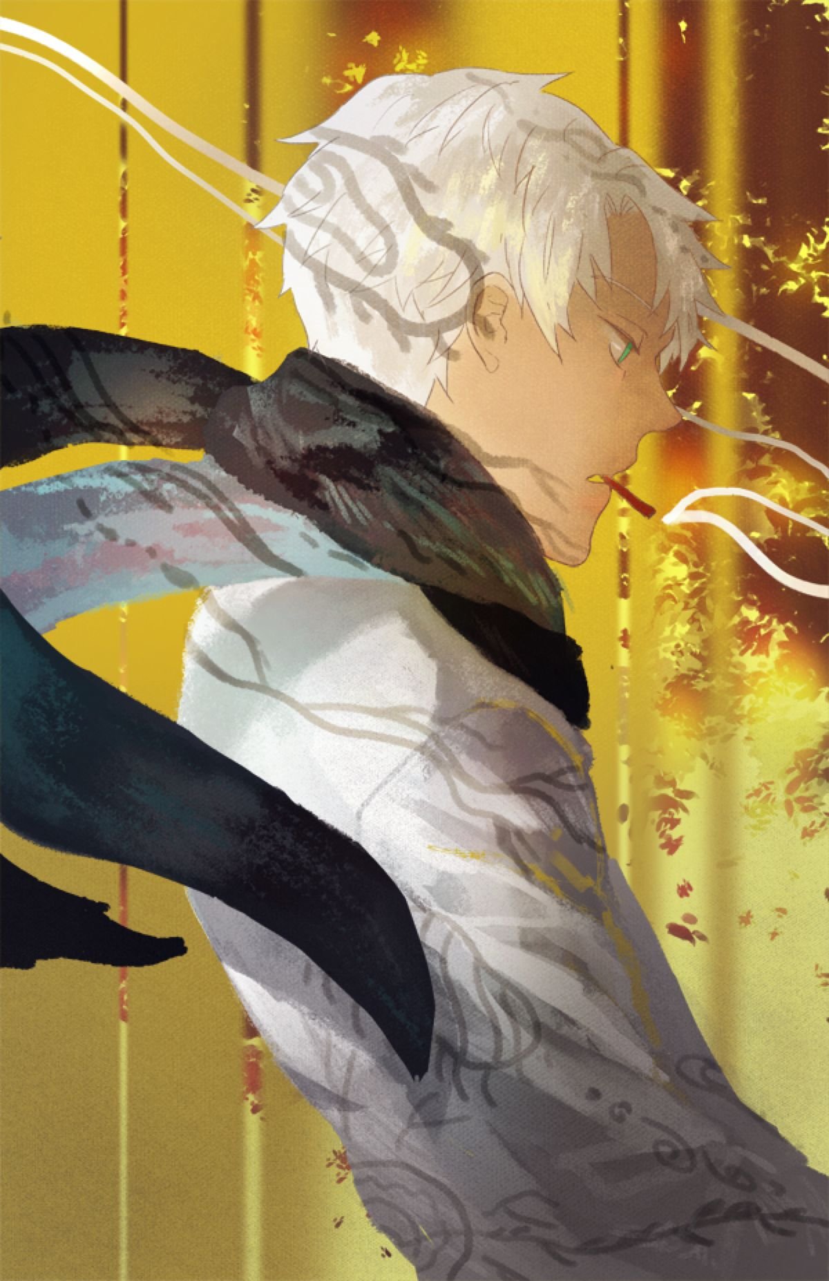 Mushishi by hakuku on DeviantArt Anime, Fan art, Island
