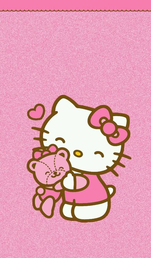Hello Kitty Backgrounds Bear Wallpaper Image Via We Heart It Weheartit Entry 145180764