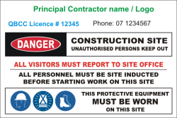 Principal Contractor Site Sign Signs National Safety Site Sign