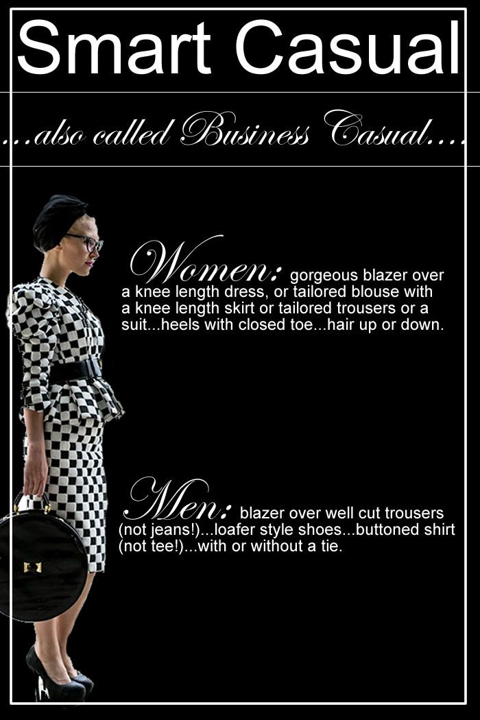 Dress Codes :: defined! From White Tie to Smart Casual ...