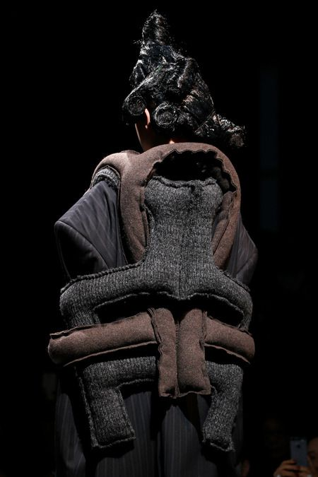 Fashion as Art - soft sculptural fashion using padded 3D shapes to create structure & symmetry // Comme des Garçons
