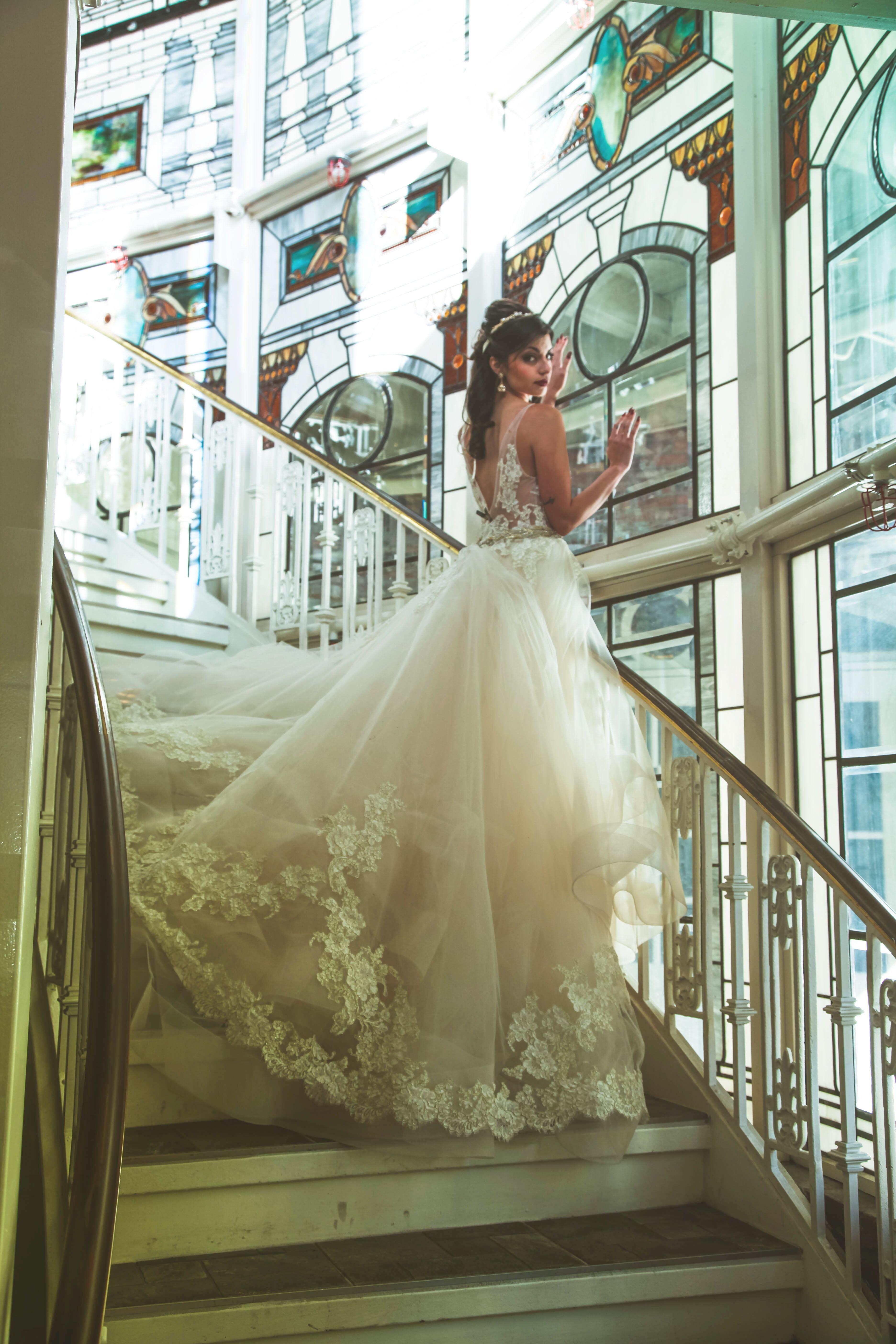 Beauty and the Beast Wedding Inspiration | Lazaro Wedding Dress ...