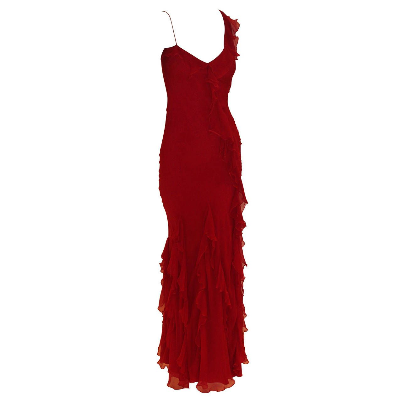 Christian Dior Red Dress | From a collection of rare vintage evening dresses at https://www.1stdibs.com/fashion/clothing/evening-dresses/