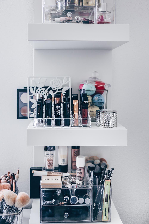 meine neue schminkecke inklusive praktischer kosmetikaufbewahrung, Schlafzimmer entwurf