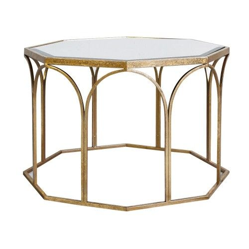 Cool Collection Cullen Coffee Table Gold Metal Finish Glass Creativecarmelina Interior Chair Design Creativecarmelinacom