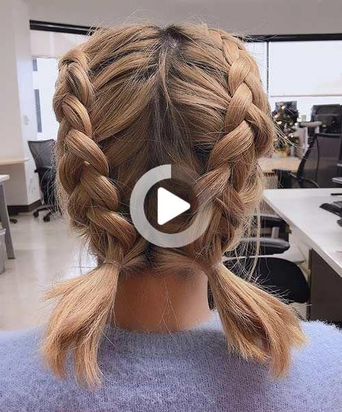 15 Stunning Braided Hairstyles For Short Hair In 2020 Braids For Short Hair Braided Hairstyles Cute Hairstyles For Short Hair