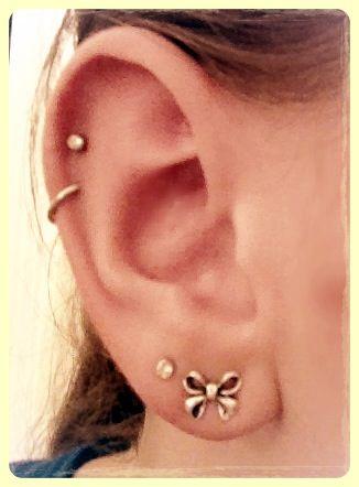 Finally Got To Change My Double Cartilage Earrings Ear Piercings