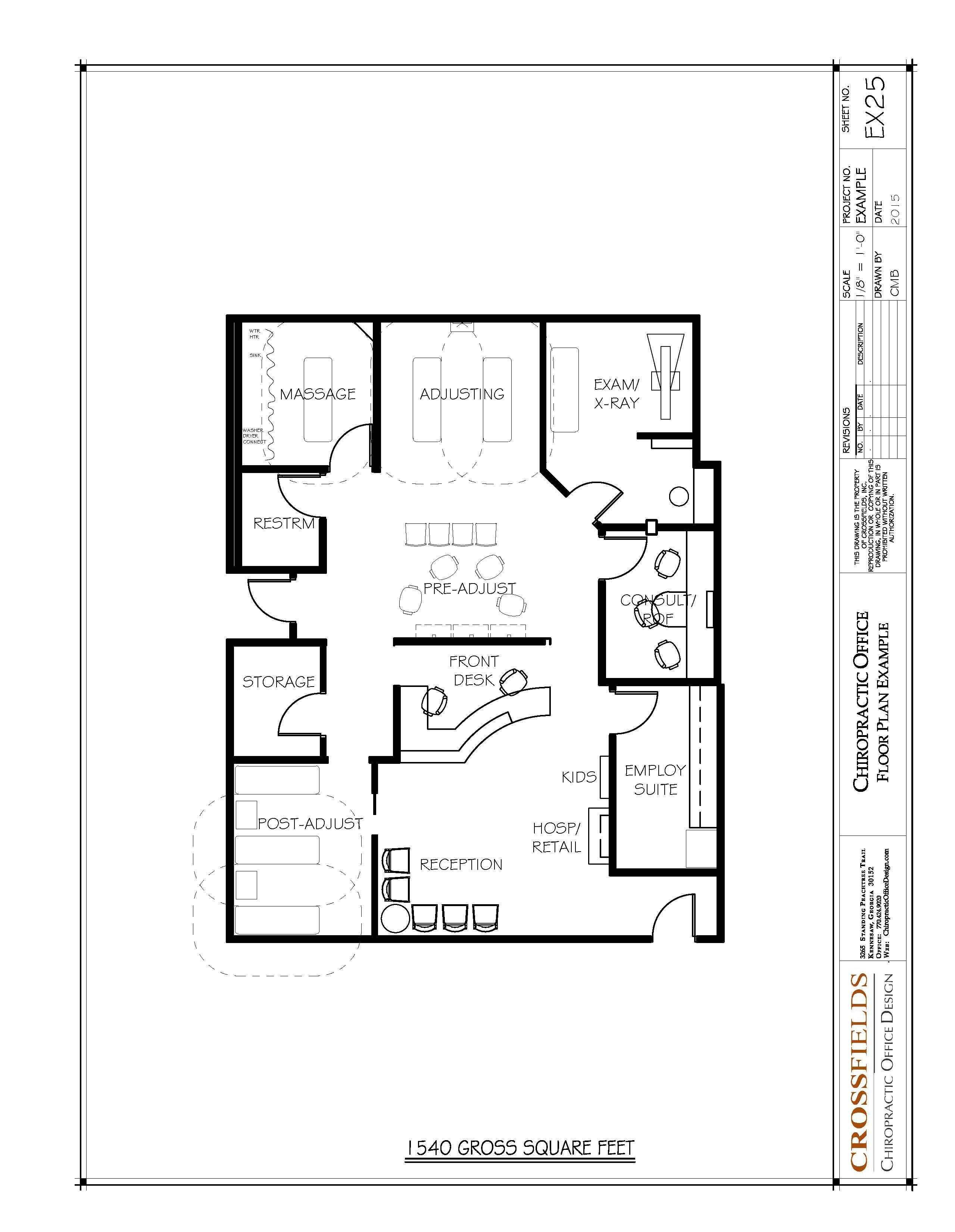 Floor Layout Of Chiropractic Office Floor Plans Pinteres