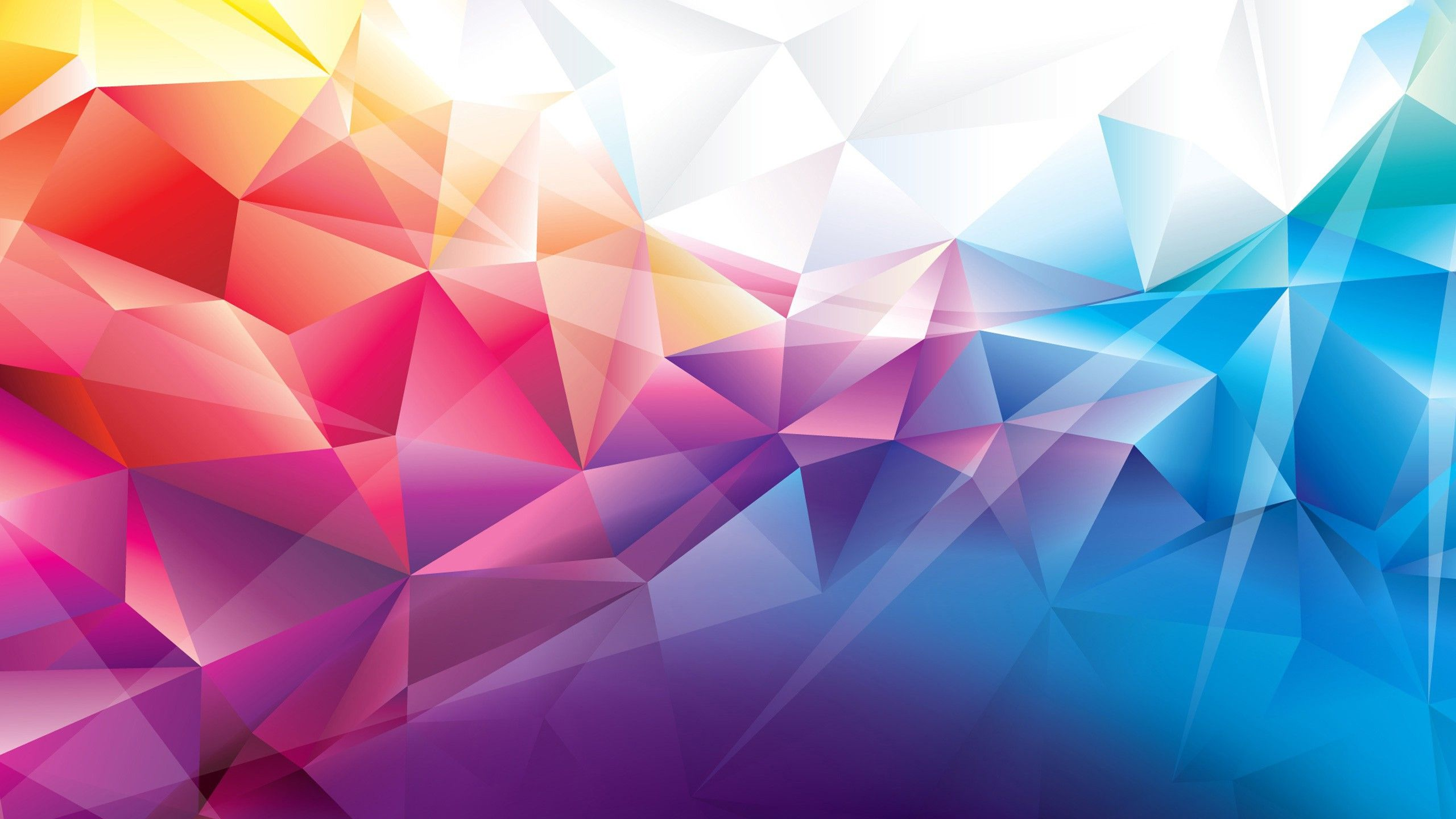 Colorful Polygons Wallpapers Hd Wallpapers Dengan Gambar
