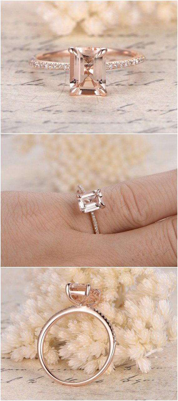 Etsy Finds 18 Emerald Cut Engagement Rings Emerald cut engagement