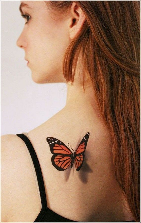 5b6359ec9 3d butterfly tattoos for women | 3D Butterfly Temporary Tattoo Ideas For  Woman