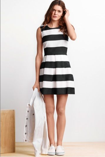 Keep it cool this summer in chic black and white layers. #summerloves