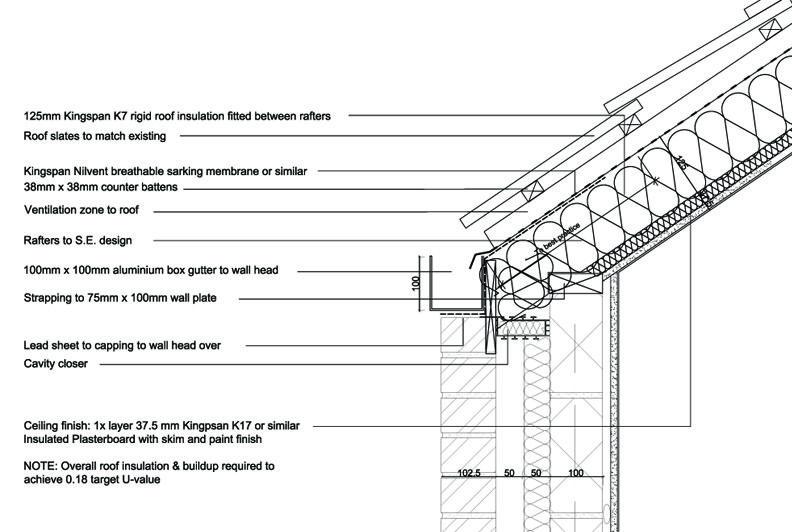 Slate Roof  Gutter Detail