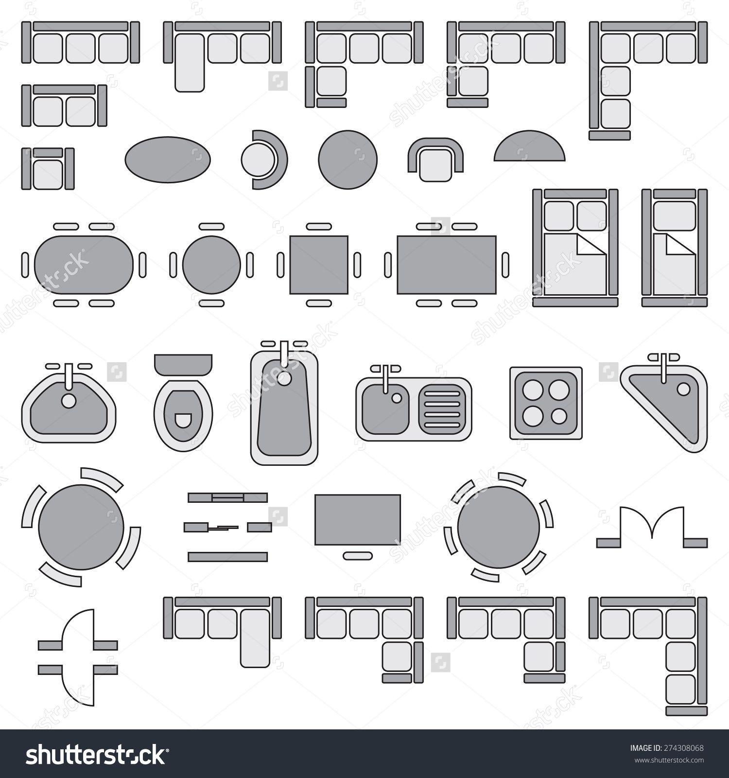Image Result For Symbols For Household Furniture Homemade Floor Plan Symbols Architecture Symbols Standard Furniture